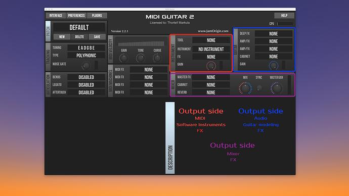 MG2 Output side