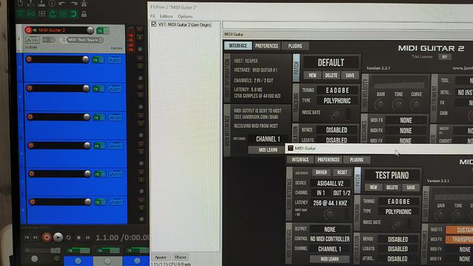 Capture d'écran Jam Origin REAPER